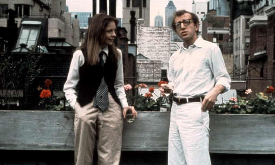 Diane Keaton and Woody Allen in Annie Hall.