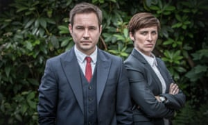 Martin Compston as Steve Arnott and Vicky McClure as Kate Fleming in BBC2's police drama Line of Duty.