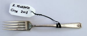 A fork used by the media proprietor and billionaire Rupert Murdoch (circa 2013)