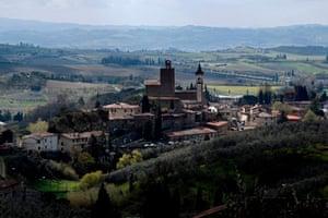 A view of Vinci, the Tuscan village where Leonardo da Vinci was born
