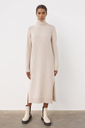 Lambswool roll neck, £375, and-daughter.com