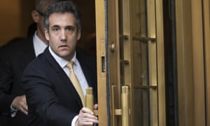 Michael Cohen leaves court in New York in August.