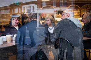 Theresa May visits a bakery in Fleetwood, north-west England, on the general election campaign trail