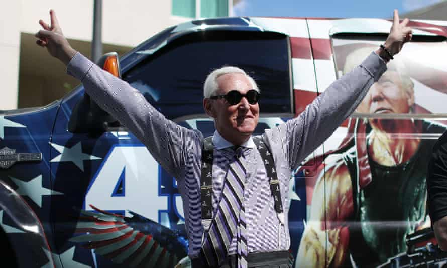 Roger Stone arrives for the Conservative Political Action Conference held in the Hyatt Regency on 27 February 2021 in Orlando, Florida.