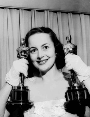 Olivia de Havilland holds two Academy Awards for her performance in The Heiress