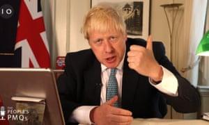 Boris Johnson during people's PMQs