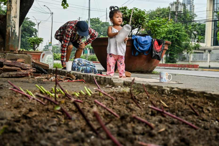 It helps when homeless families can find a small patch of soil in which to grow vegetables to supplement their diets