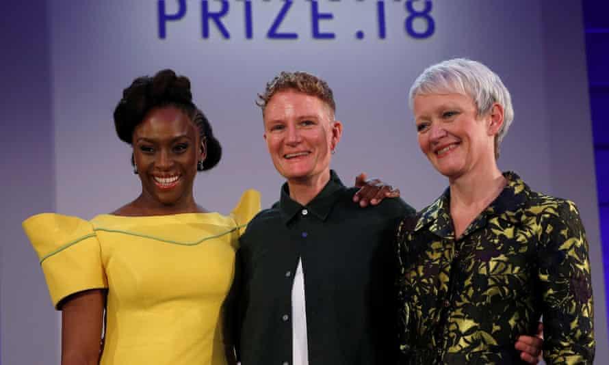 Charlotte Prodger on stage with Chimamanda Ngozi Adichie and Maria Balshaw