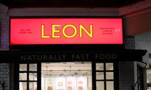 Leon fast food restaurant, London.