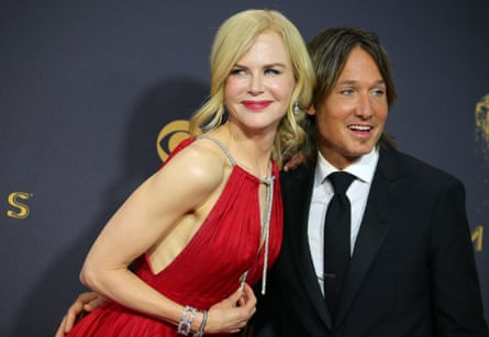 Kidman with her husband, the country musician Keith Urban, in Los Angeles, 2017.