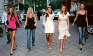 Coleen McLoughlin, centre, and fellow Wags in Baden-Baden, Germany, 2006.