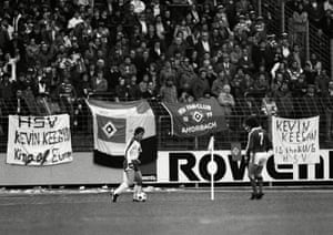 Kevin Keegan and the Hamburg fans