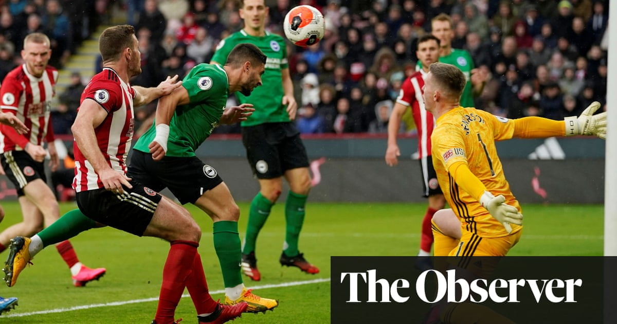 Neal Maupay pounces for Brighton to dent Sheffield United's top-four hopes