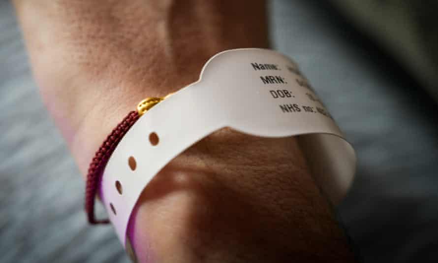 Hope's hospital wristband.