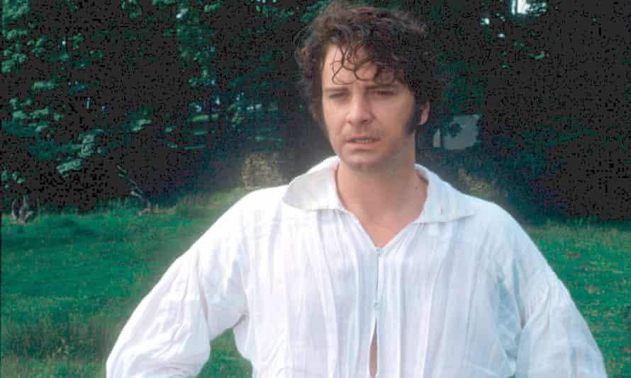 Colin Firth as Mr Darcy.
