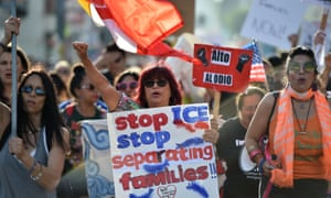 A rally in Los Angeles last week against Immigration and Customs Enforcement policies.