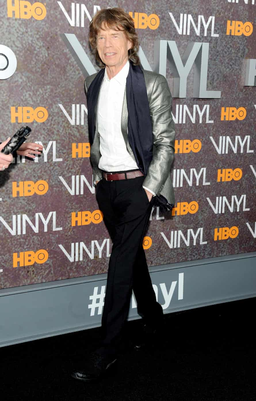 Mick Jagger at the New York premiere of Vinyl.