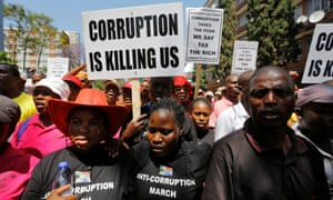 South Africa corruption protest.