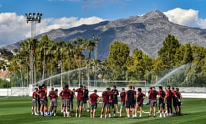 Jürgen Klopp leads training at Liverpool's base in Marbella. The opponents for the friendly have not yet been confirmed.