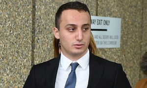 Luke Lazarus at the NSW Court of Criminal Appeal in Sydney.