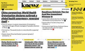 Screen shot of Knews.com, an aggregate news site launched by News Corp in January 2020.