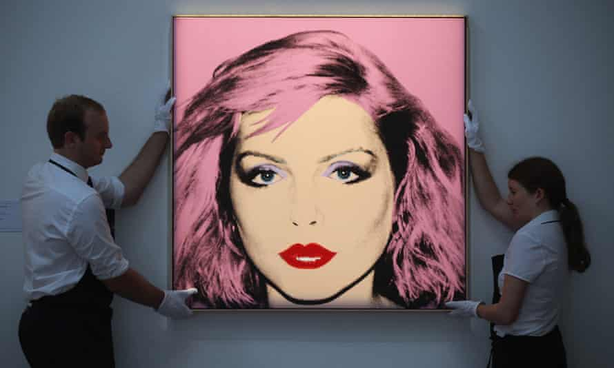 Andy Warhol's portrait of Debbie Harry.