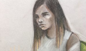 Safaa Boular, seen here in a court sketch, plotted a gun and grenade attack at the British Museum, the Old Bailey has heard.