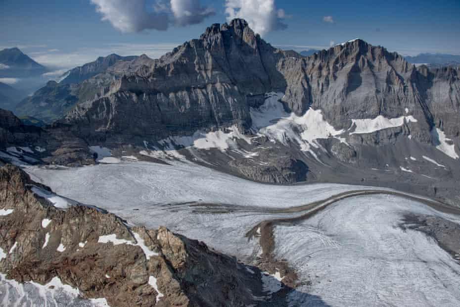 A glacier in the Bernese Alps