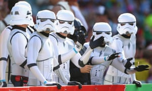 A battalion of stormtroopers enjoy the atmosphere at Allianz Stadium.