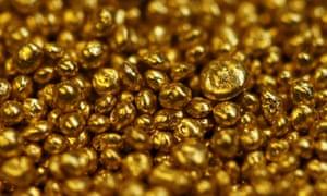 Gold granulate.
