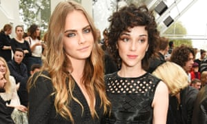 Fans speculated whether the song New York by St Vincent, aka Annie Clark, pictured right, was about her breakup with Cara Delevingne.