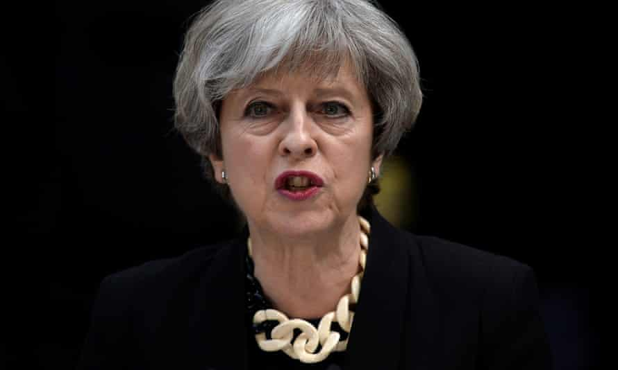 Theresa May speaks outside 10 Downing Street after the  attack on London Bridge.