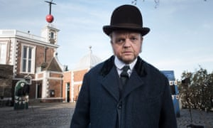 Toby Jones as Verloc from the BBC's The Secret Agent, at the Royal Observatory, Greenwich
