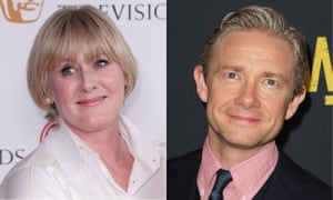 Back to the West End … Sarah Lancashire and Martin Freeman.