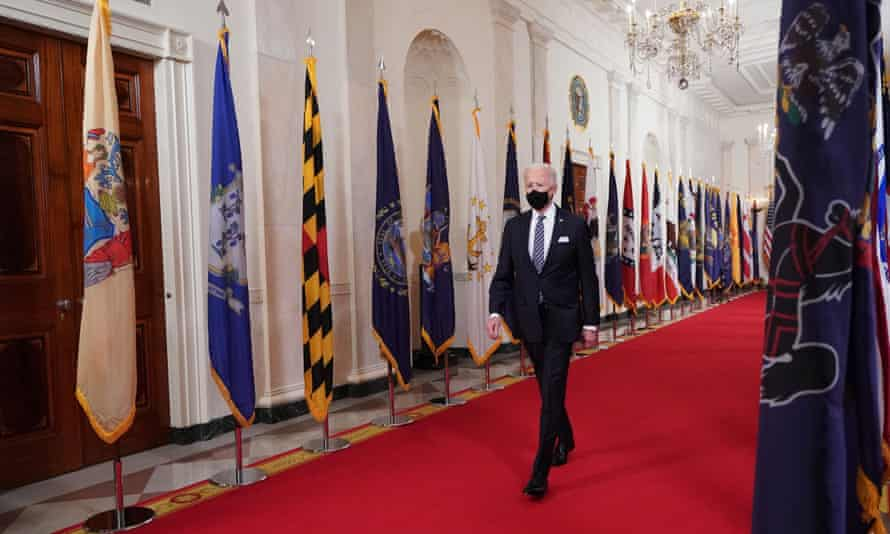 Joe Biden at the White House on 11 March.
