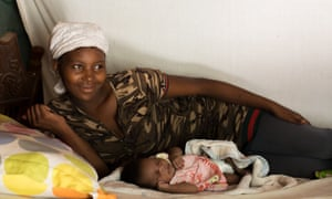 Iloyese Belizaire, who moved in with her mother to be near the Marigot centre to give birth.