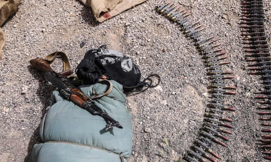 Weapons seized from Isis militants near Palmyra.