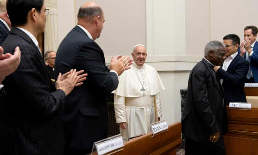 Pope Francis addresses energy representatives
