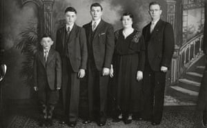 A portrait of the Iannetta family in Windsor, Ontario, circa 1938. Left to right: Guido, Tony, Louis, Antonia Troia and Michele Iannetta.