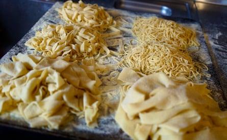 Pasta being made at Pasta Loco.