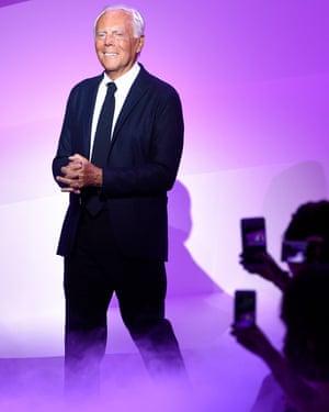 Giorgio Armani in Paris.