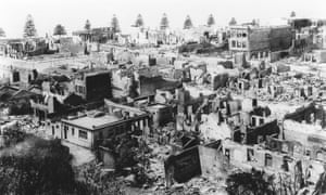 Damage from the Hawke's Bay earthquake of 1931, which killed 256 people and is still New Zealand's most deadly natural disaster.