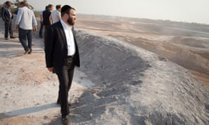Dan Gertler at a copper mine in Katanga province, DRC, in 2012