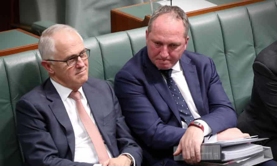 Malcolm Turnbull and Barnaby Joyce in parliament this week.