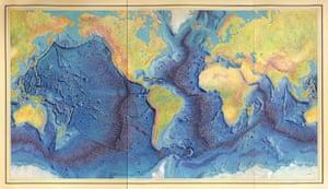 Heezen-Tharp's world ocean floor map