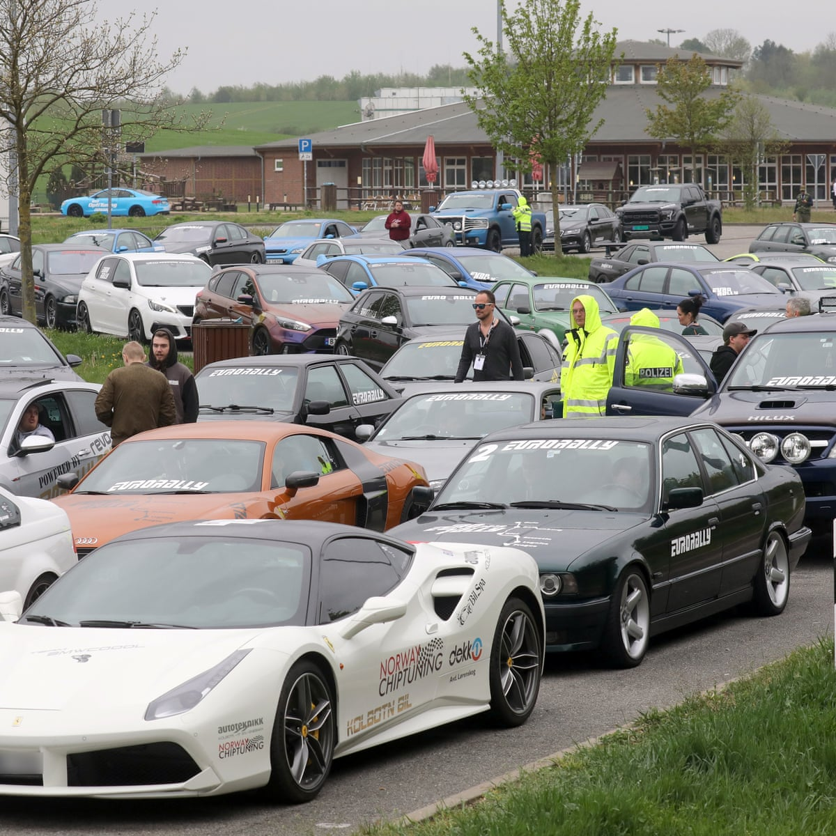 Police Seize 120 Sports Cars During Eurorally Race Through Germany Germany The Guardian