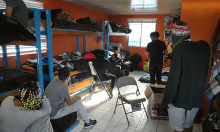 Boys at the Casa YMCA, a shelter for unaccompanied child migrants in Tijuana.