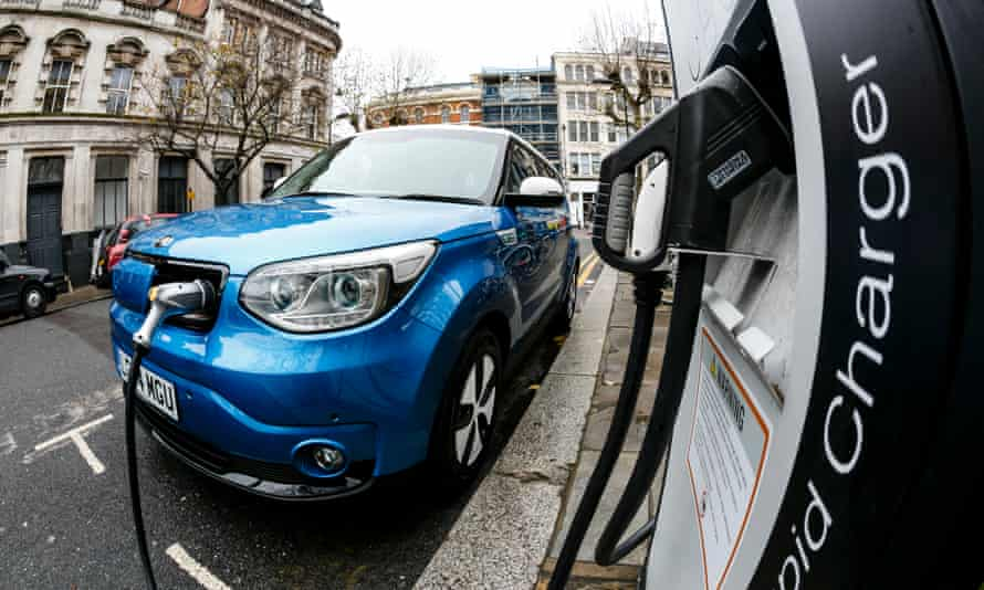 Electric car charging in London