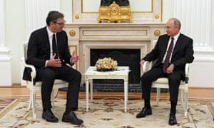 Serbian president Aleksandar Vucic visits Moscowand meets with Russian president Vladimir Putin in June.