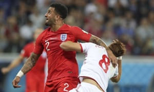 Tunisia's penalty may have been soft, but Kyle Walker courted disaster by throwing his arm out.